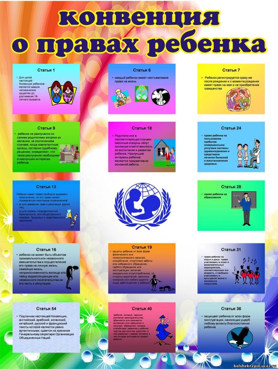 Фото декларации прав ребёнка